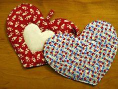 Cupid Vintage Heart Pot Holders