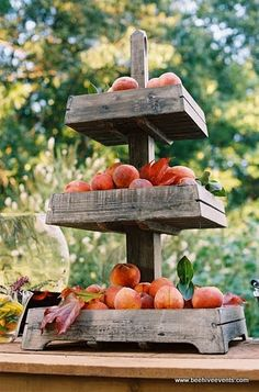 rustic 3 tier stand
