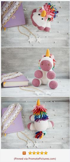 Unicorn toy #crochetunicorn #stuffedanimal #rainbowunicorn #unicorngift #giftforgirl #animalsunicorn #plushtoy #amigurumi #horsetoy #fluffytoy #rainbowtoy #unicorntoy #babygift #birthdaygift #unicorn #fairytalegift #stuffedtoy www.etsy.com/...  (Pinned using PromotePictures.com)