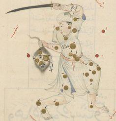 'Book of Fixed Stars' (Kitāb suwar al-kawākib al-ṯābita) by 'Abd al-Rahman ibn 'Umar al-Ṣūfī. c. 1430-1440, Timurid Samarkand. Folio 38r. Folio 67v. Perseus