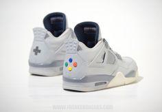 Super Nintendo Sneakers by custom sneaker specialists Freaker Sneaks