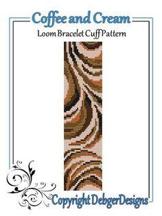 Coffee and Cream - Loom Bracelet Cuff Pattern