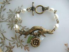 Twig Bracelet Branch Bracelet, Bird and Nest Bracelet, Nest Jewelry, Bird Jewelry, Expectant Mom, Baby Shower, New Mother. $24.00, via Etsy.