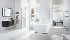 We are specialists in one area: The bathroom. Where we strive to develop the best products in the bathroom furniture, bath, shower and toilet, piece by piece, without losing the overall look. Heated Towel Rail, Vanity Units, Bathroom Furniture, Toilet, Chrome, Bathtub, The Unit, Joy, Shower