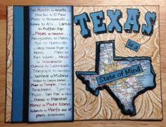 "Texana Designs sample by DTM Janet Bradshaw using Texana Designs Jam'n Texas Outline, Jam'n Texas Cities, TEXAS (KALDesigns) and part of ""Texas is a State of Mind"" stamps."