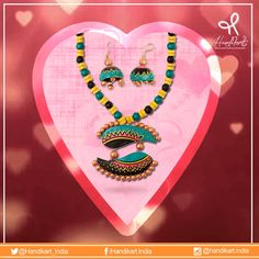 Today it's your chance to showcase love, as its #ValentinesWeek  From #Handikart_India choose the best of #jewelry https://www.handikart.co.in/all-products/jewellery/red-beeds-necklace-with-animal-pattern-pendant-1659.html #giftoflove #newcollection #lifestyle #gifts