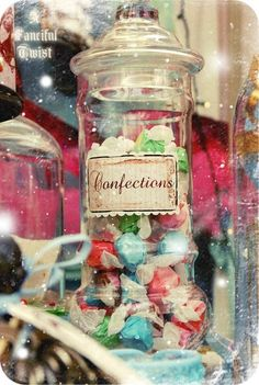 12 Wonderland Inspired Candy Jar Stickers by AFancifulTwist