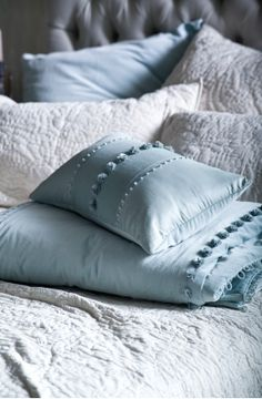 isadora powder blue cushion bianca lorenne