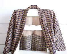 Plum Kimono Jacket Haori,Japanese Vintage Dougi,Transitional Jacket,Coverup,Boho…