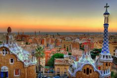 Look at this sunrise pic! Gorgeous. 3 cool, affordable places to stay in Barcelona.