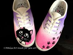 Hey, I found this really awesome Etsy listing at https://www.etsy.com/listing/188348489/painted-cat-lover-girl-shoes