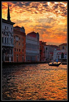 Sunset over Grand Canal, Venice, Italy