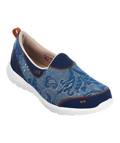 Another great find on #zulily! Blue Embroidered Henley Slip-On Walking Shoe #zulilyfinds