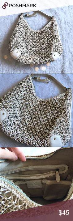 Cole Haan open weave bag A lovely handbag! I few small marks on the white leather, but nothing too noticeable. Generally in great condition! Cole Haan Bags Shoulder Bags