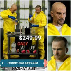 ThreeZero Breaking Bad Heisenberg & Jesse Hazmat Suit 1/6 Scale Action Figure Combo! Only $249.99! $70 off MSRP!  Pre-Order at Hobby-Galaxy.com!  #breakingbad #heisenberg #jessepinkman #walterwhite #bryancranston #aaronpaul #actionfigures #actionfigure #onesix #onesixthfigure #onesixscale #onesixthrepublic #hobbygalaxy