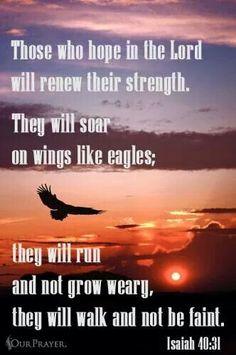 Soar like eagles wings