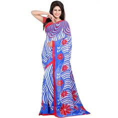 Classy Blue Color Heavy Georgette Printed Saree at just Rs.480/- on www.vendorvilla.com. Cash on Delivery, Easy Returns, Lowest Price.