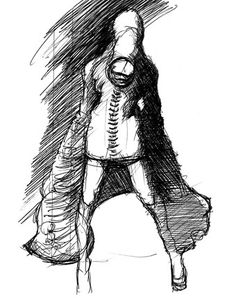 Closer concept sketches - silent Hill 3 - they're similar to mandarins from Silent Hill 2.