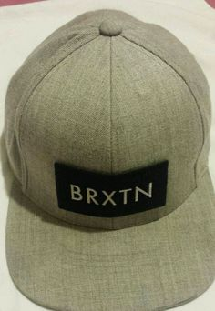 6cc1ec027fa55 Brixton Mens Rift Snapback Hat Light Heather Grey One Size for sale online