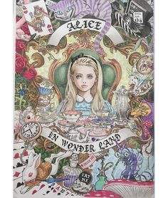 Alice in Wonderland   #大人の塗り絵 #colorliarge  #colorpencil  #Takumi画集塗り絵book