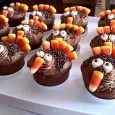 Thanksgiving cupcakes - Turkeys