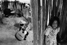 John Vink -  MEXICO. Refugees from Guatemala. 1988.