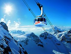 Mt Titlis Switzerland. I have actually riden in one of these cars.