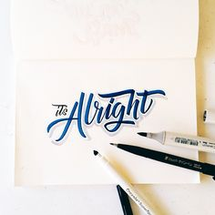 If you fail it's alright. You can try it again. #calligrafikas  #crayolamarkers