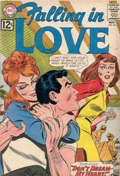 A cover gallery for the comic book Falling in Love Vintage Pop Art, Vintage Comic Books, Vintage Romance, Vintage Comics, Comics Love, Cute Comics, Comics Girls, Romance Comics, True Romance