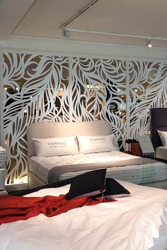 Laser cut screens and Laser cut panels - Miles and Lincoln Laser Cut Screens, Laser Cut Panels, Luxury Bedroom Design, Interior Design, Cnc Cutting Design, Decorative Panels, Screen Design, Luxurious Bedrooms, Ceiling Design