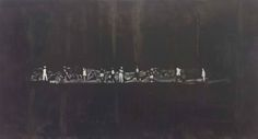 Luc Tuymans, The Shore, oil on canvas, 194.2 x 358.4cm, 2014. Courtesy David Zwirner, New York/London