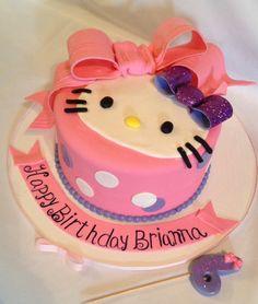 #hello kitty giant bow cake Www.facebook.com/brooklynsheavenlycreations and Instagram @btooklynsheavenlycreations