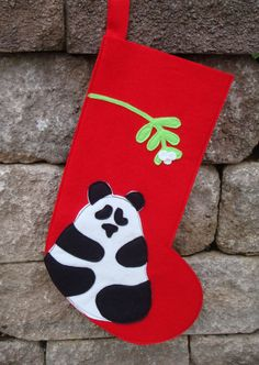 Panda holiday sock