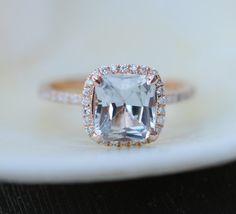 Jasmine Champagne sapphire engagement ring 14k by EidelPrecious