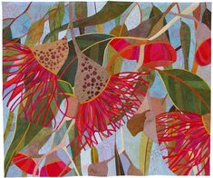 In My Portfolio: In Good Company - Ruth de Vos : Textile Artist Textile Fiber Art, Textile Artists, Art Floral, Australian Native Flowers, Flower Quilts, Landscape Quilts, Botanical Art, Fabric Art, Artist Art