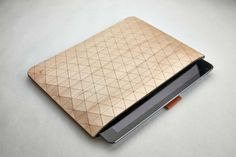 Geometric Wooden iPad Sleeves by Grovemade