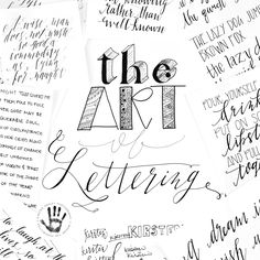 The Art of Lettering | Calligraphy and More! | Custom Design by Kirsten Ashley Photography & Design