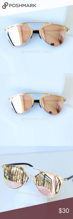 Rose Reflective Bohemian Aviators • NWOB • ❤️ BUNDLES  ❌ NO TRADES  ❌ NO Low balling!   • NWOB • Accessories Sunglasses