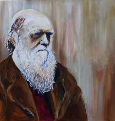 Charles Darwin - acryl 2019 Charles Darwin, My Arts, Artwork, Painting, Work Of Art, Auguste Rodin Artwork, Painting Art, Artworks, Paintings
