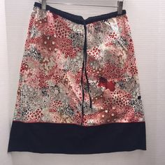 Floral Pencil Skirt Floral Skirt with Black Boarder with a Drawstring belt. Worn Once, in Great Condition. Max Studio Skirts Pencil