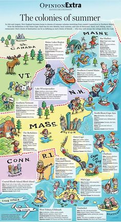 This is a FUN cheat-sheet for those thinking of vacationing in New England…