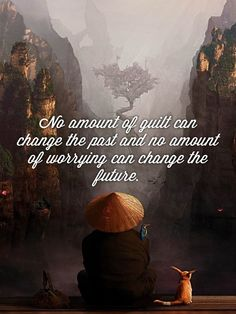 No amount of guilt can change the past & no amount of worrying can change the future. - Umar Ibn al-Khattab.
