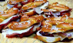 Grilled cheese & bacon on a soft pretzel #PaneraChallenge #Grilledcheese