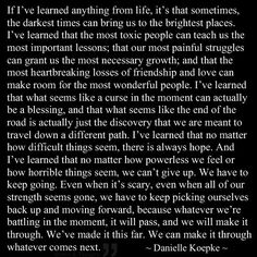 I love this because it is the same thing I learned, which must mean I got through it the way I was supposed to. #Grateful
