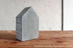Cool texture! HomeMade Modern DIY EP25 Concrete Bookends Options