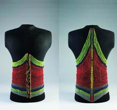 Africa | Beaded male bodice from the Dinka people of Sudan | Glass beads, leather, metal and fiber | ca. late 19th to early 20th century | © The Israel Museum, Jerusalem