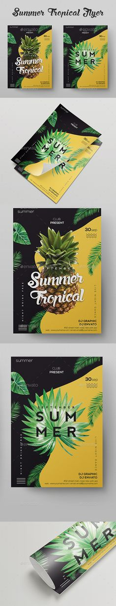 Summer Tropical Flyer - Clubs & Parties Events