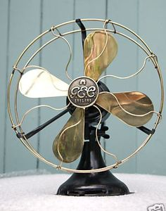 "1924 GEC Freezor 12"" electric fan made by The General Electric Co Ltd, Witton, England. This came from a time when GEC branded their domestic products Freezor and had started making fans of their own design, rather than licensed copies of GE fans."