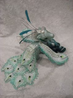 My little pony custom Sweet pea the Peacock. £120.00, via Etsy.