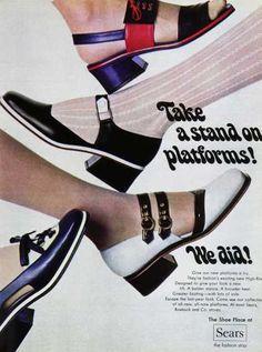 1960s platform shoes